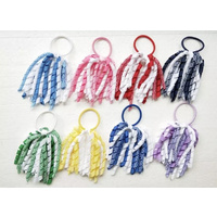 Girls Hair Pony Tail Ribbons