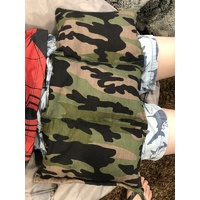 Ready Made Weighted Mini Lap Blanket Army Camo