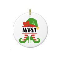 Personalised Christmas Ceramic Ornament