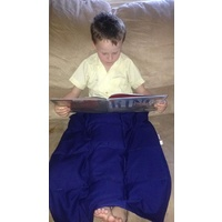 Ready Made Weighted Lap Blanket Blue