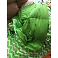 Ready Made Large Weighted Blanket 7kg 100x148cm Green Chevron