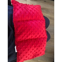 Ready Made Weighted Mini Lap Blanket Red Minky Dot
