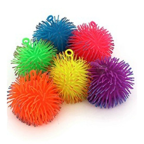 Squishy Light Up Two Tone Fluffy Ball 12cm